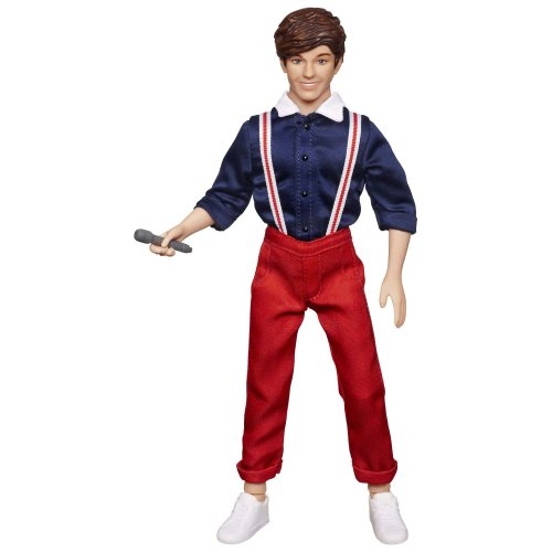 "Louis One Direction (One Direction 1D Singing Series Collection Singing Louis Toy Doll with Outfit, Shoes, & Microphone Sings 30 Second Song Clip ""One Thing"", 12 Inches, Multicolor, 1 Doll)"
