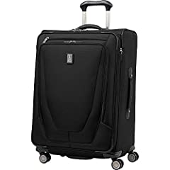 """The Travelpro Crew 11 25"""" Expandable Spinner Suiter Suitcase is the civilian version of the famous checked traveler's bag that professional flight crews have depended on for decades the world over. Constructed of high-quality ballistic nylon ..."""