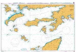 & 039;BA Chart 1055  ägäis Sea Hat € Griechenland and Turkey, Rhodos Channel And GA ˜ ìkova KA ˜ ìrfezi by United Kingdom Hydrographic Office