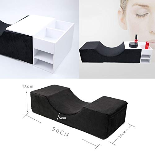 Carremark Waterproof Curve Pillow for Eyelash Extension Improve Sleeping