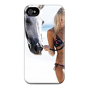 Rugged Skin Case Cover For Iphone 4/4s- Eco-friendly Packaging(walking The Horse)