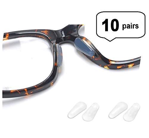 - AM Landen 10 Pairs 2.5mm Transparent Anti Skid Tear Drop Silicone Nose Pads Eyeglass Nose Pad