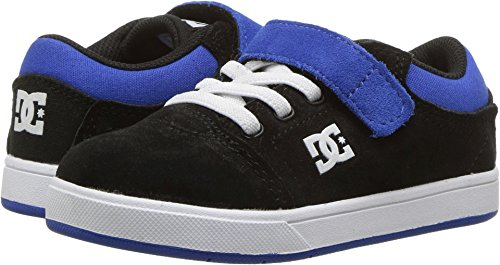 DC Boys' Youth Crisis Skate Shoe, Black/Blue, 10 M M US Toddler