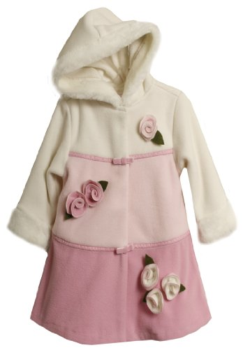 Bonnie Jean Little Girls'  Colorblock Fleece Hooded Coat