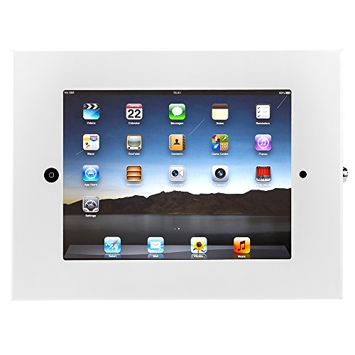 SecurityXtra SecureDOCK UNO Security Flat to Wall Lock Mount for iPad Pro White by SecurityXtra
