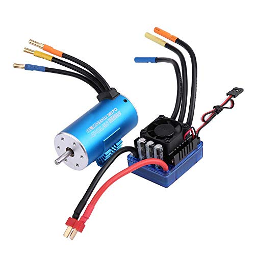 Xiangtat RC Waterproof 120A ESC Electric Speed Controller Combo with 3670 2650KV Brushless Motor 1/8 Monster Truck Truggy Cars