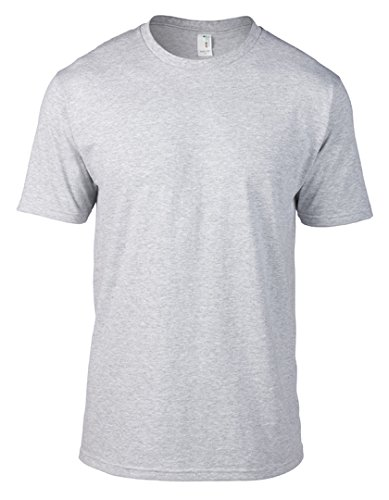 Anvil Mens' Eco-Friendly Lightweight Tee (Heather Grey) (Large)