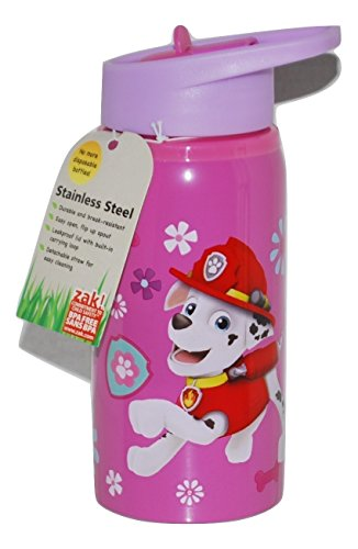 Zak! BPA-Free Paw Patrol Pink Stainless Steel Kids Water Bottle19 oz ()