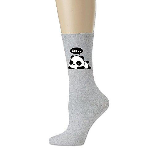 Sleeping Panda Unisex Cotton Crew Socks Ash