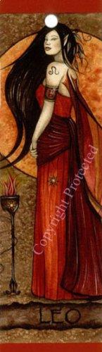 Jessica Galbreth Zodiac Sign Bookmark Fairy Faery LEO - Jessica Galbreth Zodiac Sign