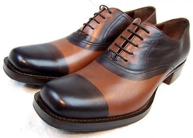 Prada Miu Miu: Bemalte Herren Schuhe *Leder braun & schwarz