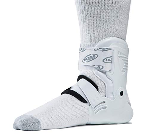 (Ultra Zoom Ankle Brace for Injury Prevention, Provides Support and Helps Prevent Sprained Ankles in Volleyball, Basketball, Football - Supportive, Secure Brace for Athletes - White, Small/Medium)