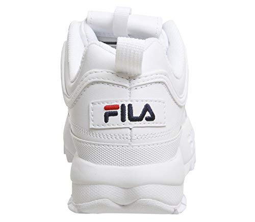 Fila Unisex Disruptor II Premium Leather Synthetic White Trainers 7.5 W   4  M US 0c14c482ef1