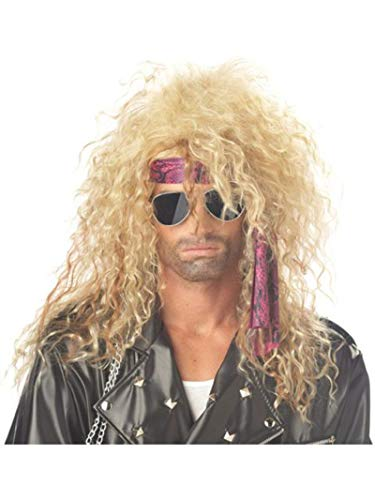 80s Male Hair (California Costumes Men's Heavy Metal Rocker Wig,Blonde,One)