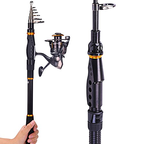 Sougayilang Fishing Rod Reel Combos Carbon Telescopic Fishing Rod Pole