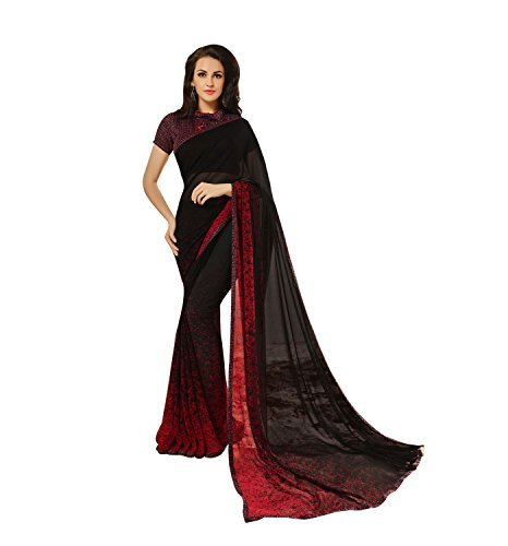 30f4ad73372215 Image Unavailable. Image not available for. Colour  Craftsvilla Women S  Georgette Saree With Blouse Piece ...