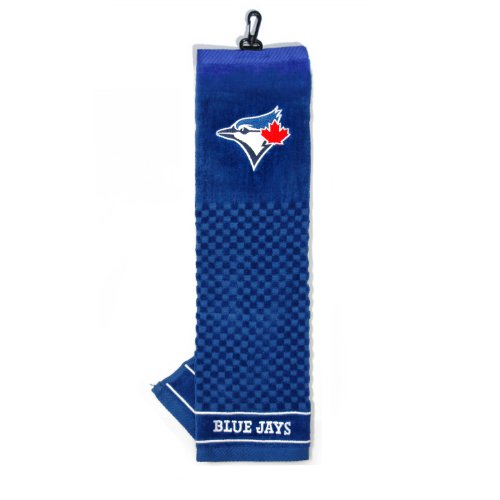 Team Golf MLB Toronto Blue Jays Embroidered Golf Towel, Checkered Scrubber Design, Embroidered Logo