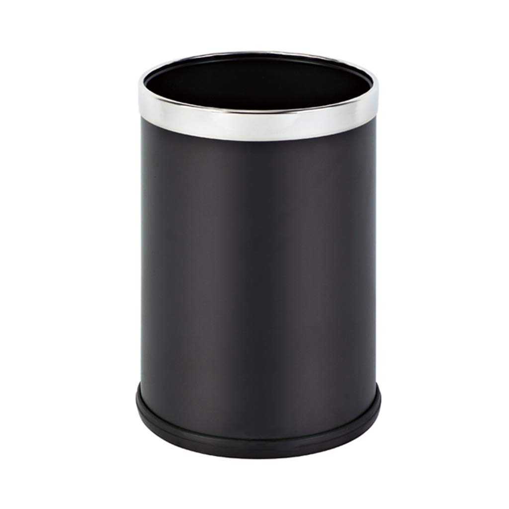 CSQ Stainless Steel Trash Can, Bank Station Post Office Airport Subway Hospital Round Uncovered Trash Can 202030CM Indoor