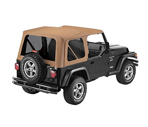 Bestop 79139-37 Spice Sailcloth Replace-A-Top Soft Top with Tinted Windows; no Door Skins Included for 1997-2002 Wrangler ()