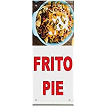 Frito Pie Red Food Bar Restaurant Food Truck Double Sided Pole Banner Sign 36 in x 48 in