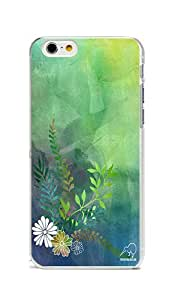 iPhone 6 Case Cover, Colorful Printed Dark Green Background iPhone 6 4.7inch Rugged PC Case Transparent