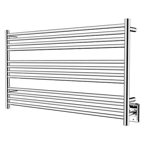 HEATGENE Towel Warmer 12 Bar Towel Dryer Wall-Mounted Plug-in Bath Towel Heater -