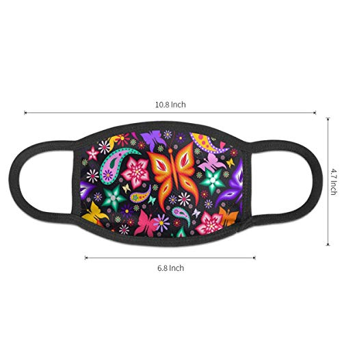 Dust Mask Colorful Butterfly Pattern Antiviral Face Mask Cover Anti-dust Reusable Windproof Half Face Mouth Warm Masks for Ski Bicycle Cycling Motorcycle Women Men