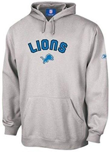 REEBOK DETROIT LIONS HOODED SWEATSHIRT HOODIE GAMEDAY, LARGE -