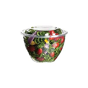 Eco-Products - Renewable & Compostable Salad Bowls - 48oz.Bowl with Lid - (Case of 150) EP-SB48