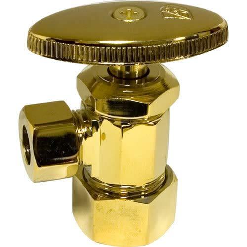Monogram Brass MB-SVLV-300 Decorative Standard Water Supply Angle Stop, Polished Brass