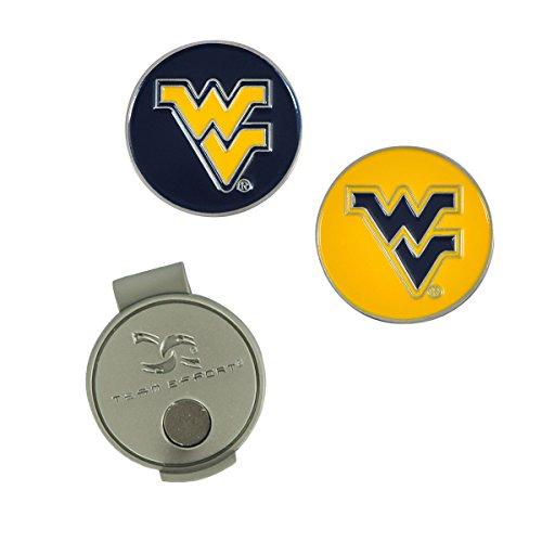Team Effort West Virginia Mountaineers Hat Clip & 2 Ball Markers
