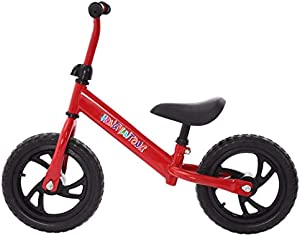 Kid's Bike Balance Bike for 2-7 Year Old Kids, Adjustable Height,Steel Frame,Non-Pneumatic Tires, Lightweight, No Petal, Children Bicycle for Boys Girls Christmas