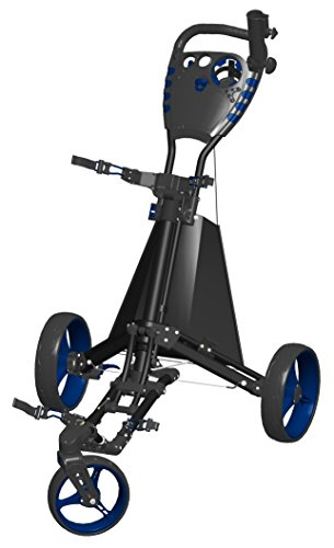 Spin It Golf Products Easy Drive Golf Push Cart, Black/Blue by Spin It Golf Products, LLC