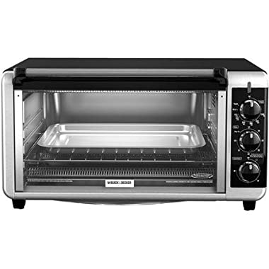 Black & Decker Stainless Steel Extra Wide 8-Slice Toaster Oven, Silver