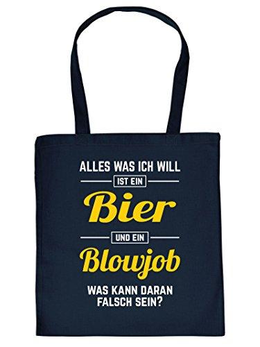 Tragetasche Baumwoll Einkaufstasche Alles was ich will ist ein Bier�?lustige Sex Sprüche Tasche