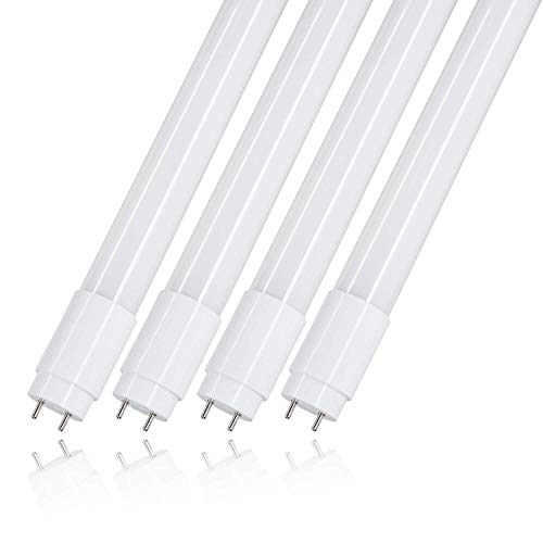 T8 4ft led light tube - 18W (40W equivalent), 2000LM, 6000K, Dual-End-Powered, Bi-pin G13 Base, Romwish 48