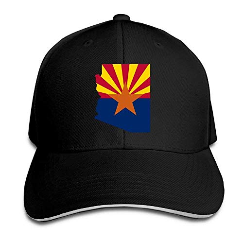 Faleader PeaceTown United States Flag Map of Arizona