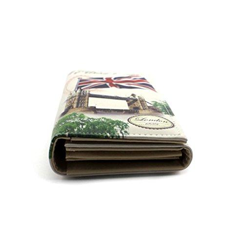HuntGold 1X Mode Lange Geldbeutel Handtasche PU Leder Folding Brieftasche (E)