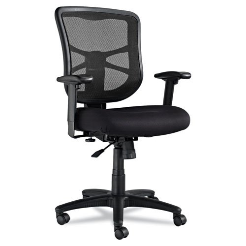 Alera Elusion Series Mesh Mid-back Swivel/tilt Chair - Polyester Black Seat - Mesh Back - 5-star Ba