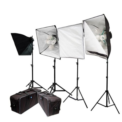 4000 Watt Digital Photography Photo Studio Softbox Light Kit with Carrying Case, LimoStudio, LMS383 by LimoStudio