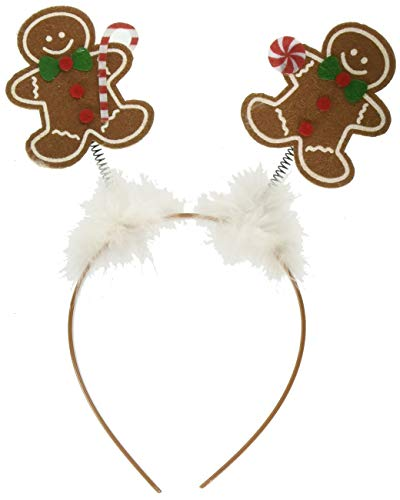 Gingerbread Man Costumes For Adults - amscan Christmas Gingerbread Head Bopper, 10