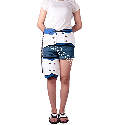 Hip Joint Dislocation Of Hip Abduction Orthosis Fixation Hinge Adjustable Waist Leg Brace Femur Injury(Both) FREE SHIPPING BY EMS ABOUT 8-10 Days by Orthokong (Image #3)