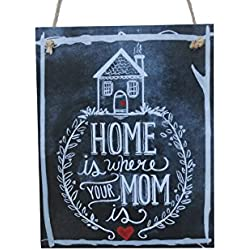 Home Is Where Your Mom Is Chalk Sign By meijiafei