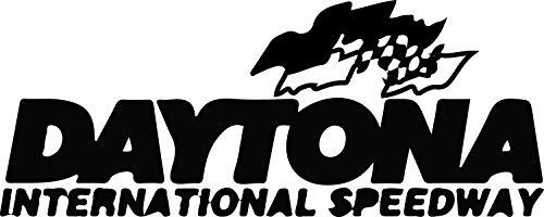 Daytona Decal - NBFU DECALS Logo Daytona International Speedway (Black) (Set of 2) Premium Waterproof Vinyl Decal Stickers for Laptop Phone Accessory Helmet CAR Window Bumper Mug Tuber Cup Door Wall Decoration