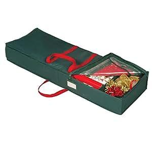 Richards Homewares Holiday Green Gift Wrap Organizer