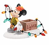Department 56 Disney Village Mickey Lights Up Christmas Accessory, 2.25 inch