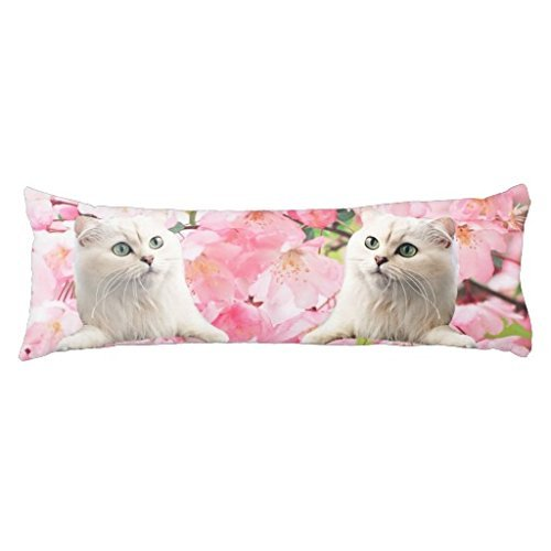 """Himoud Cat Body Pillow Covers Cases With Double Sided 20""""x54"""