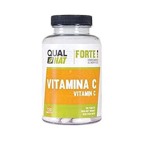 Qualnat, Vitamina C Ayuda a Aumentar las Defensas, Alto Contenido en Antioxidantes, 120 Comprimidos
