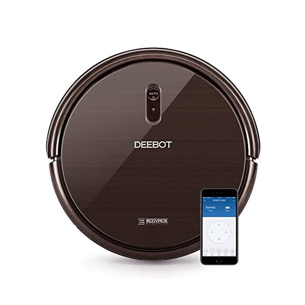 DEEBOT Robotic Vacuum Cleaner with Max Power Suction,Up to 110 min Runtime, Hard Floors & Carpets, Works with Alexa, App Controls, Self-Charging, Quiet