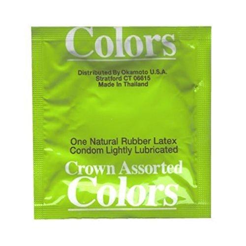 Colors Condoms (Crown Assorted Colors Condoms 24 Pack)